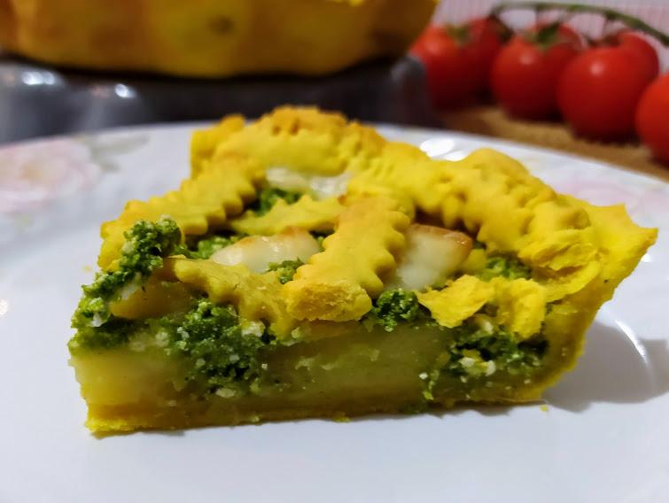 torta salata cime di rape e patate