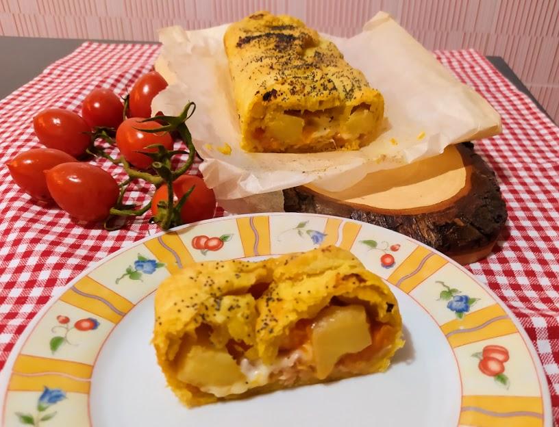 plumcake in sfoglia con zucca e patate